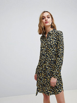 Warehouse Ditsy Marigold Floral PRINT SHIRT Dress