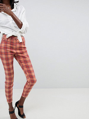 ASOS DESIGN Ridley High Waist Skinny In Elevated Check - Check