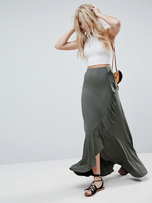 ASOS Jersey Maxi Skirt with Wrap and Belt Detail