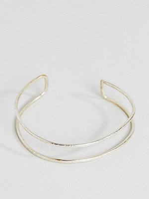 People Tree armband Fair Trade Silver Plated Cuff Bracelet