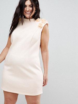 ASOS Curve 3D Flower Shoulder Mini Shift Dress