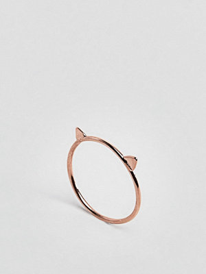 ASOS Rose Gold Plated Sterling Cat Ring