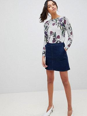 Oasis Seam Detail A-Line Mini Denim Skirt - Denim