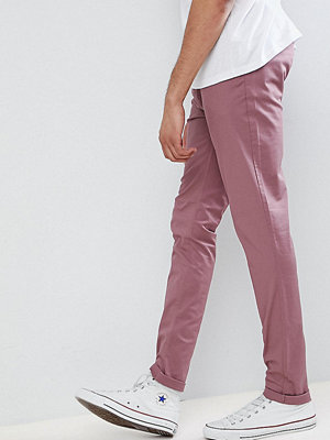 ASOS TALL Skinny Chinos In Purple Taupe