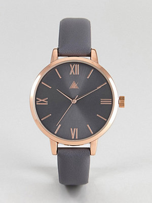 Klockor - ASOS Charcoal and Rose Gold Watch