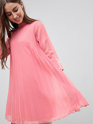 Asos Tall Pleated Trapeze Mini Dress