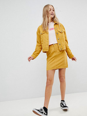 ASOS DESIGN cord original skirt co-ord in mustard