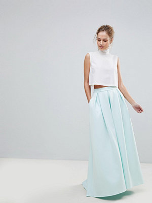 ASOS Scuba Maxi Skirt with Pockets and Godet Back Detail
