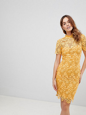 Paper Dolls Mustard Daisy Crochet Dress - Mustard gold