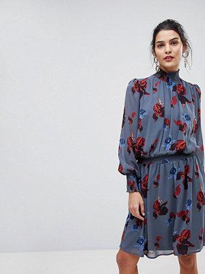 Y.a.s Floral High Neck Skater Dress