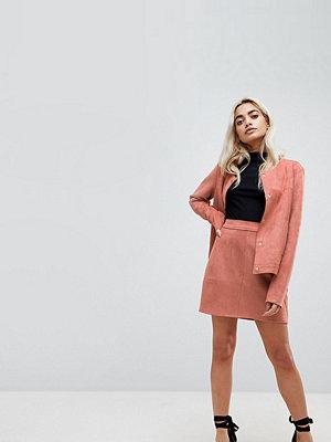 Vero Moda Petite Minikjol i mockaimitation Gammelrosa