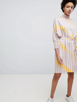 Selected Stripe Printed Shift Dress