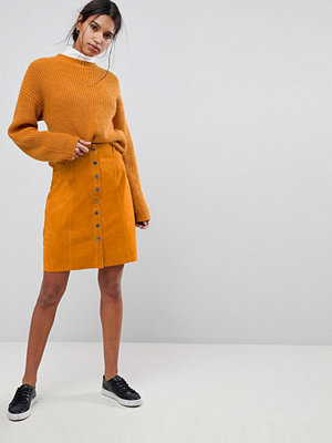 Selected Suede Button Up Skirt