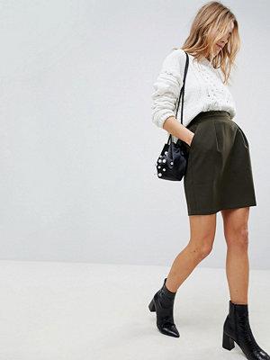 ASOS Tailored Ruffle Paperbag Waist A-Line Mini Skirt