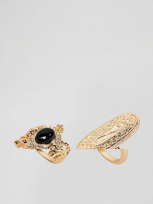 ASOS Pack of 2 Etched Rings