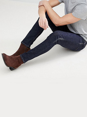 ASOS Skinny Jeans In Indigo With Nep