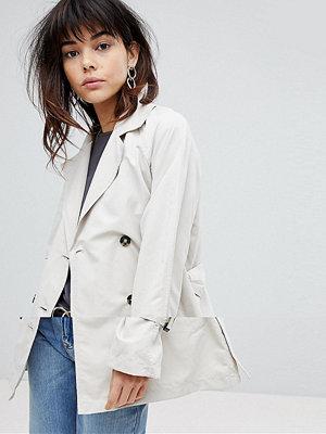 Vero Moda Mac Jacket With Shoulder Detail - Oatmeal