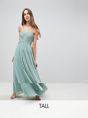 Y.A.S Tall Knot Detail Strapless Maxi Dress