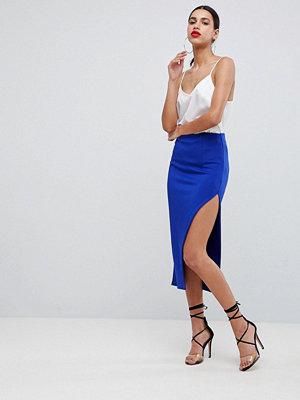 ASOS DESIGN scuba midaxi skirt with thigh split