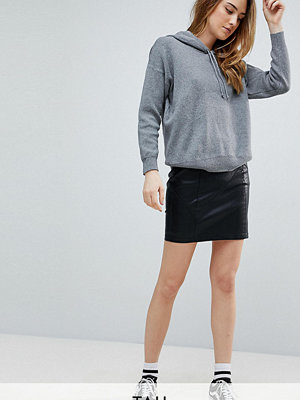 Noisy May Tall Faux Leather Skirt
