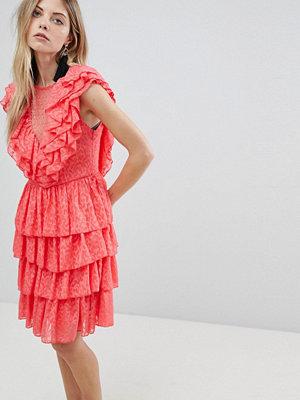 Y.a.s Ruffle Lace Up Mini Dress