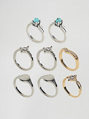 Liars & Lovers Cocktail Layering Rings