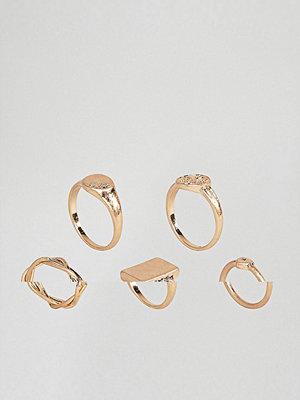 ASOS Pack of 5 Vintage Style Signet Rings
