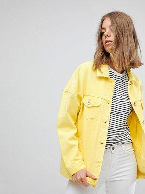 Vero Moda Coloured Denim Jacket - Cream gold
