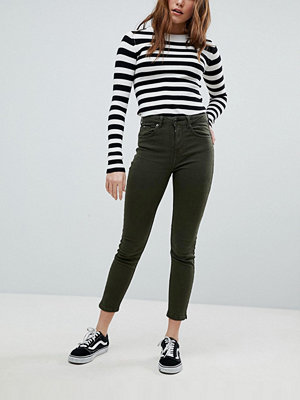 Bershka High Waist Mom Jean - Khaki