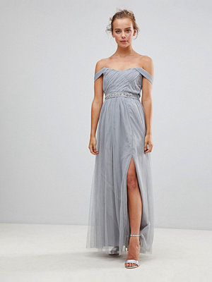 Little Mistress Jewel Waist Maxi Dress