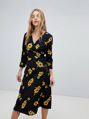 Miss Selfridge Floral Wrap Midi Dress