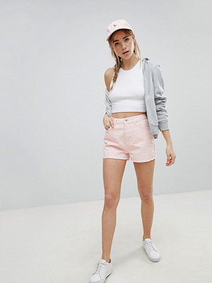 Jack Wills Girlfriend shorts med hög midja Syrenlila
