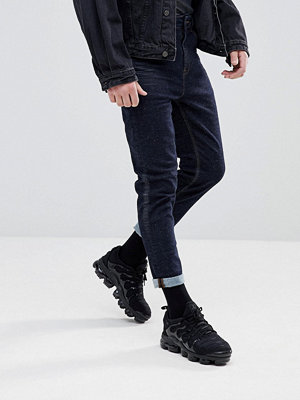 ASOS Tapered Jeans In Indigo With Nep