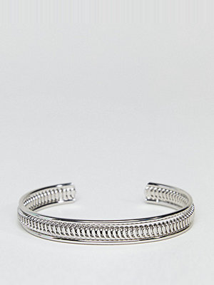 ASOS Curve armband ASOS DESIGN Curve Exclusive Thick Textured Cuff Bracelet