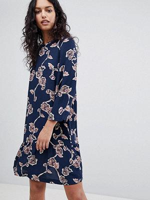 Y.a.s Coller Floral Print Skater Dress