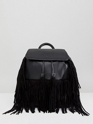 Miss Selfridge ryggsäck Fringed Backpack