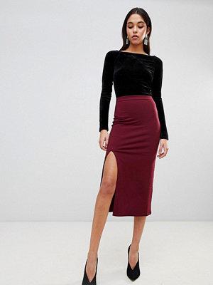 ASOS DESIGN midaxi skirt with front split