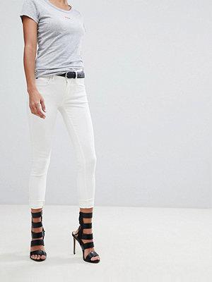 G-Star Lynn D-Mid Ankellånga jeans med supersmal passform Rinsed