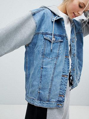Monki 2-In-1 Denim Jacket - Blue grey