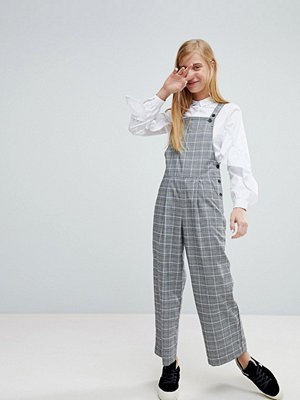Monki Check Tailored Dungarees