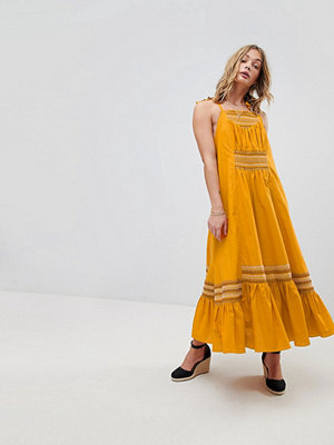 Free People Another Love Smocked Midi Dress