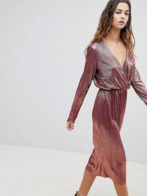 Y.a.s Nila Wrap Front Midi Dress