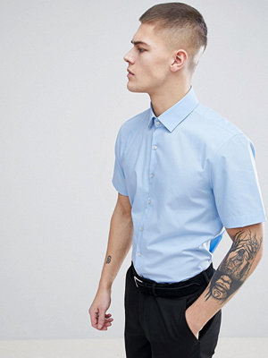 Calvin Klein Skinny Smart Short Sleeve Shirt - Pale blue