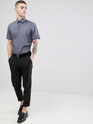 Calvin Klein Skinny Smart Short Sleeve Shirt - Charcoal