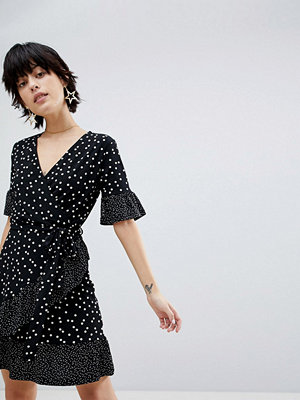 Warehouse Polka Dot Wrap Dress