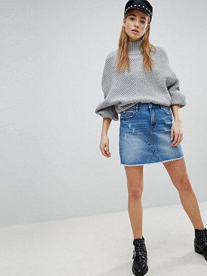 Pimkie Distressed Mini Denim Skirt
