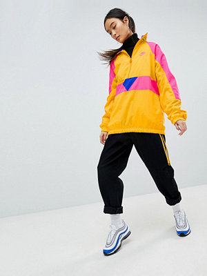 Nike Vaporwave Half Zip Track Jacket In Yellow With Colour Block