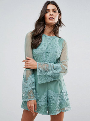 ASOS Placement Lace Occasion Playsuit