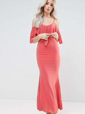 City Goddess Petite Maxi Dress With Frill Detail