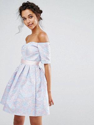 Chi Chi London Jaquard Mini Dress - Blue/pink